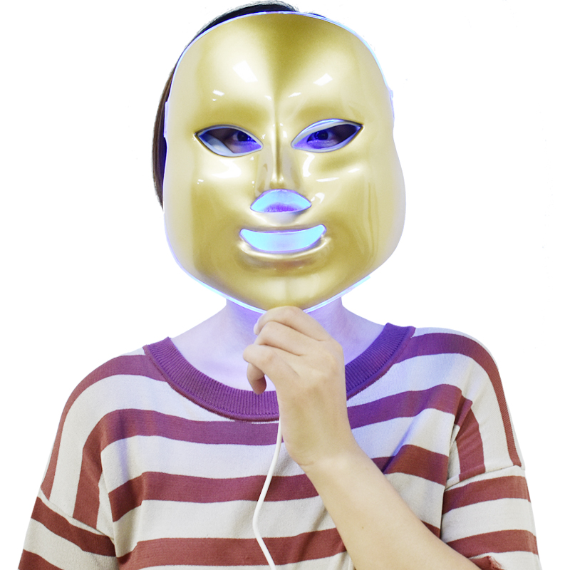 7 Color LED Photon Facial Neck Mask EMS Microcurrent Therapy Skin Rejuvenation Wrinkle Removal Face Neck Beauty LED Mask 4 color led photon therapy machine led facial mask anti acne wrinkle removal skin rejuvenation therapy beauty device blessfun