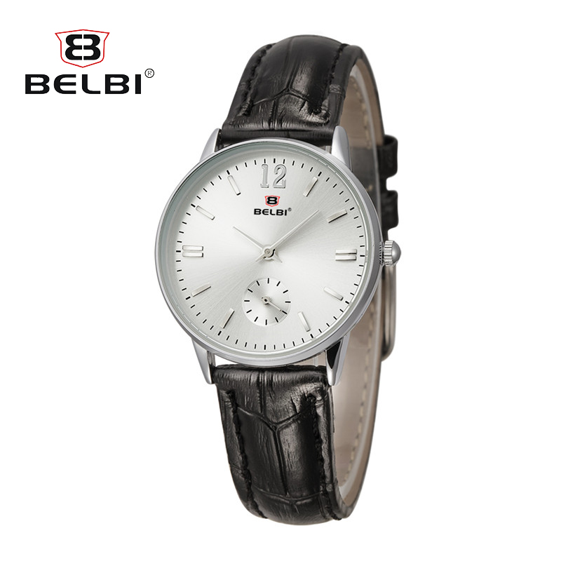BELBI Wrist Watches Relogio Feminino Women Watch Brand Luxury Wristwatch Leather Ladies Casual Fashion 2018 Montre Femme chic women s halter floral print flounce bikini suit swimwear