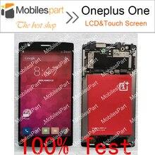 Oneplus one pantalla 100% nuevo lcd display + touch screen reemplazo del conjunto de pantalla para oneplus one teléfono móvil