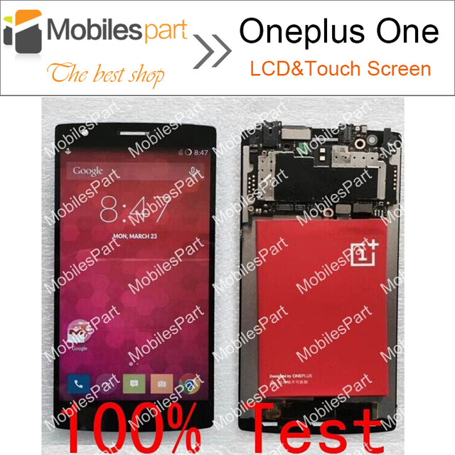 Oneplus one tela 100% original lcd screen display + touch screen substituição assembly para oneplus one telefone móvel