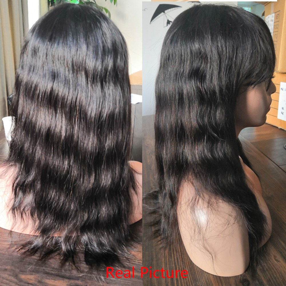 ALLRUN Μαλαισία Σγουρό βαρίδι Περούκες - Ανθρώπινα μαλλιά (για μαύρο) - Φωτογραφία 6