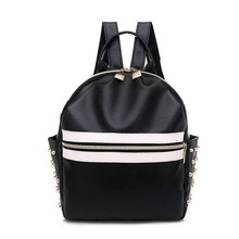 Women Leather Backpack Anti-Theft Casual School Backpacks For Teenager Girls Small Rivets Travel Bag High Quality
