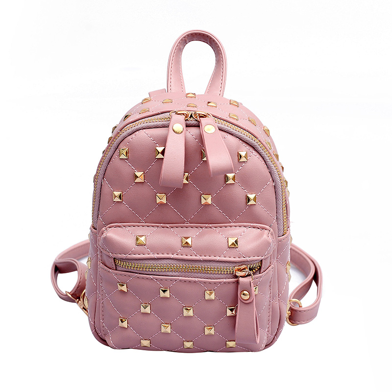 c29a829355 New Rivet Women Backpack Casual PU Leather Female feminine backpack for  teenage girls school bag solid. US $20.10. 2019 Sequined ...