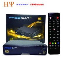 [Auténtica] Freesat V8 de Oro Combo DVB-S2 + DVB-T2 + DVB-C TV Vía Satélite Receptor Apoyo PowerVu Cccamd Newcamd Biss Llave USB Wifi