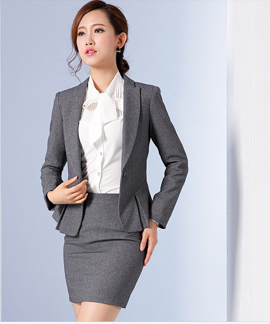 8347c4a7e Korean 2016 Office Uniform Designs Women Plus Size Women Business Suits  Formal Office Suits Work Brand Women Office Skirt Suit-in Skirts from  Women's ...