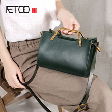 AETOO Original handbag mini bag new metal leather shoulder slung literary youth