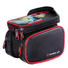 6.2 Inch Waterproof Phone TPU Touch Screen Cycling Top Front Tube Frame Bag Saddle Bags cycling bag road MTB bicycle accessories