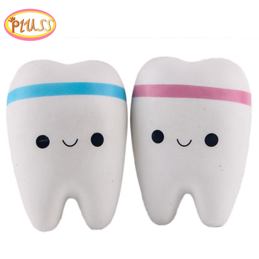 Squish Squishy Rainbow Tooth Slow Rising Cartoon Unicorn Antistress Soft Squeeze Bread Toy Kid Toys  Gift Anti-stress