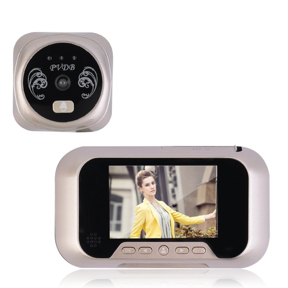 HBUDS LCD Digital Ring Monitor Door Peephole Viewer Camera Cam Pograph Doorbell Home Sec ...