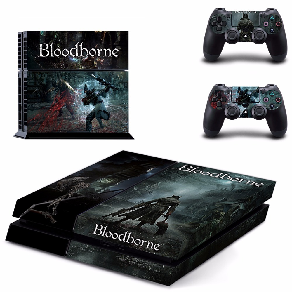Game Bloodborne PS4 Skin Sticker Decal For Sony PlayStation 4 for Dualshock 4 Console and 2 Controllers PS4 Skins Sticker Vinyl