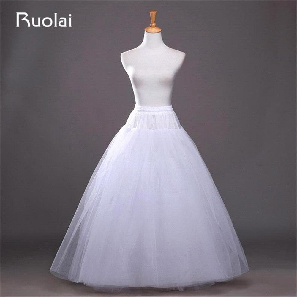 Cheap No Hoop White Bridal Petticoat Many Layers Crinoline ...