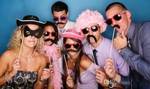 31Pcs in a Set Party wedding photography Photo Booth Props Trendy Mustache Eye Glasses Lips on a Stick Mask free shipping