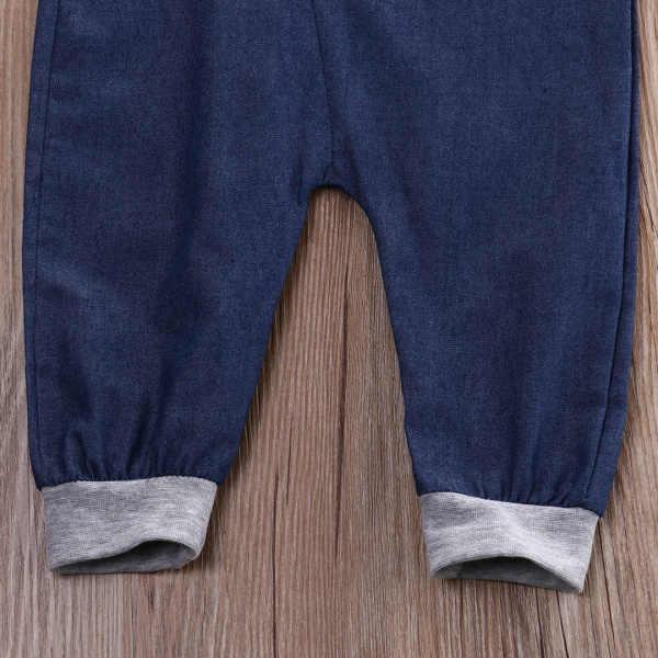 데님 지퍼 청바지 아기 playsuits 의상 2016 신생아 유아 베이비 보이 반팔 원피스 jumpsuit rompers casual