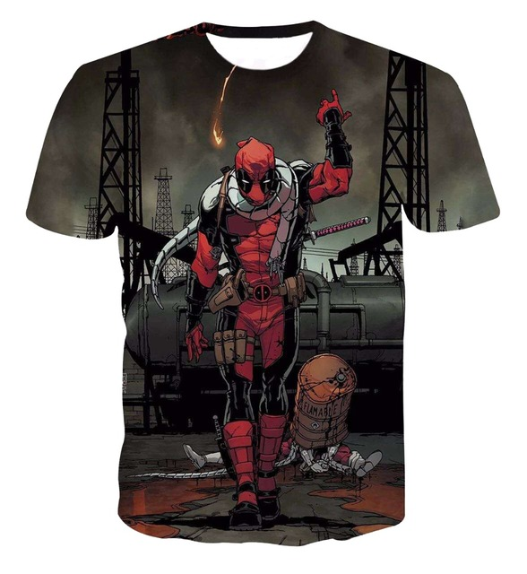 Comic Badass Deadpool T-Shirt Tees Men Women Cartoon Characters 3d t shirt Funny Casual tee shirts tops