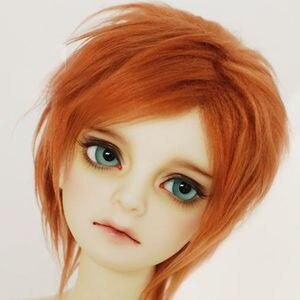 Короткий плюшевый парик BJD, красно-коричневый, для кукла 1/4 1/3, 17, 24 дюйма, MSD, DK, DZ, AOD, DD, бесплатная доставка