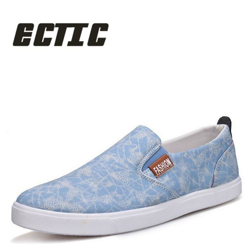 ECTIC 2018 New student boy canvas shoes arrive Fashion young adult' s - Men's Shoes