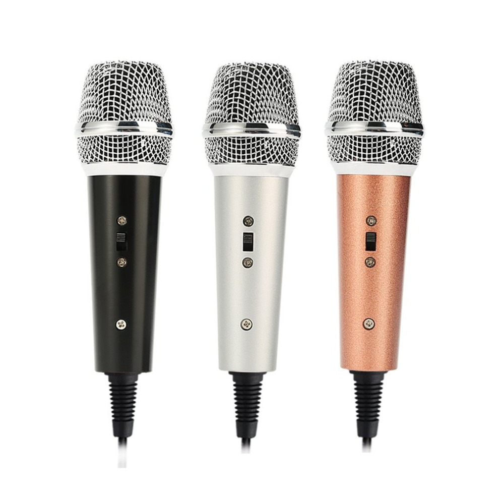 Professional Vocal Microphone Portable Handheld Omnidirectional Wired Microphone For Mobile Phone Singing Accessories