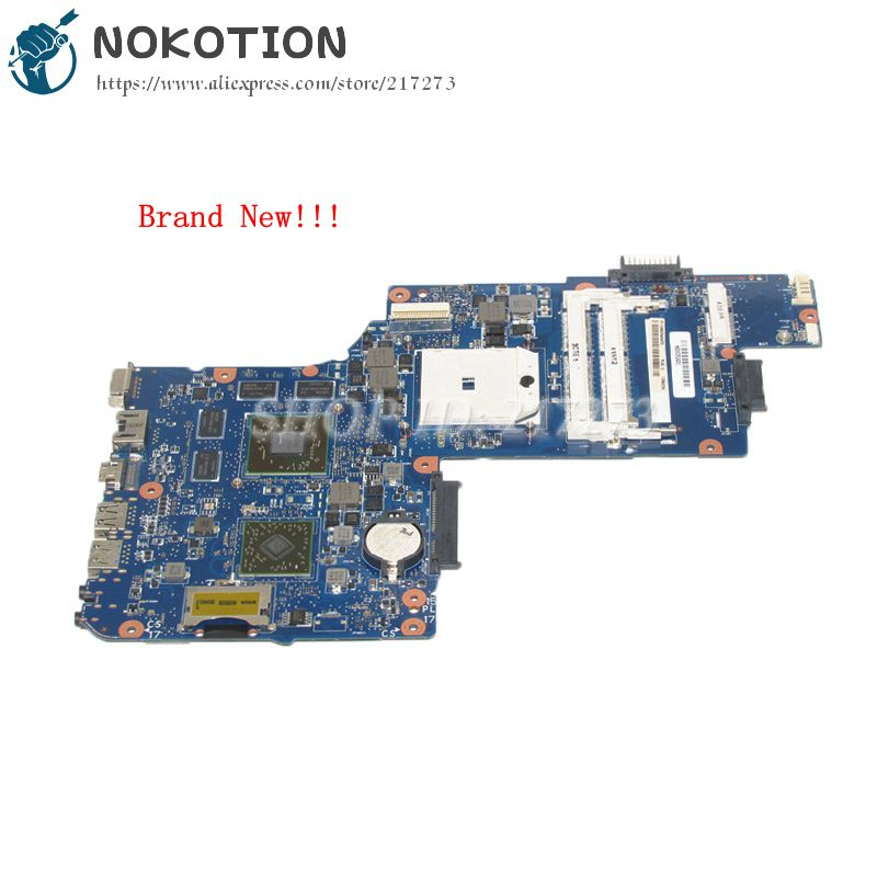 NOKOTION NEW H000052430 MAIN BOARD For Toshiba Satellite C850D L850D C855D L855D PC Motherboard Sokcet fs1 HD7600M graphics free shipping for toshiba satellite l850d l855d c850 c855d c850d series motherboard plac csac uma main board fully tested