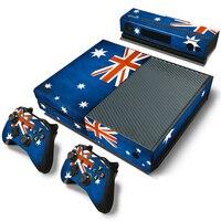 Bán Hot Úc cờ Skin Protector Sticker cho Microsoft Xbox One và 2 Điều Khiển Skins Hoa KingdomStickers cho XBOXONE