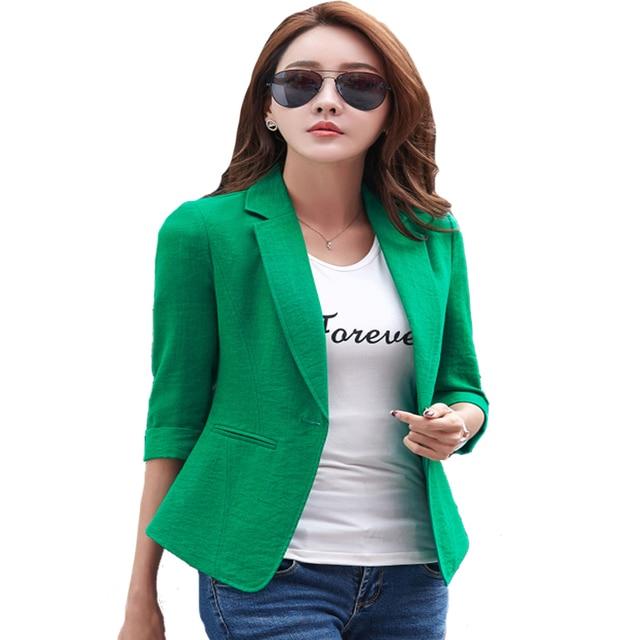 02c2fe6bf6d 3XL Ladies Blazers jackets New Arrival 2019 OL Formal Korean Small Suit  jacket Women Work Lady Coat Slim Plus Size Office Blazer