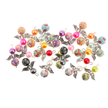 20pcs Mixed Angel Wings Pendants Charms Clay Beads for Earring Necklace made DIY Jewelry Making Crafts Kids Birthday gift Set