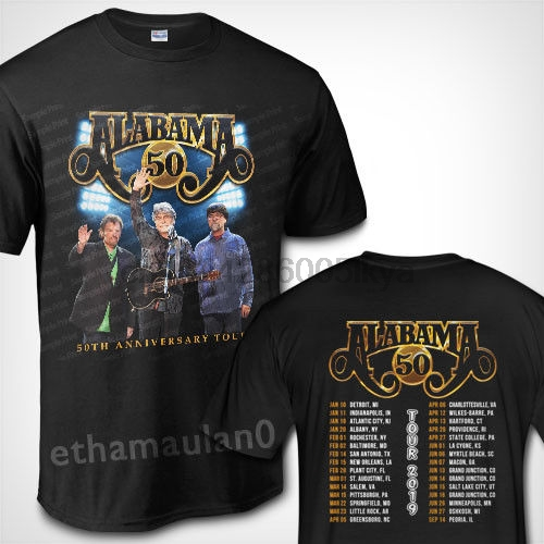 US $12 99  Alabama Band 50th Anniversary Tour 2019 T shirt S to 3XL MEN-in  T-Shirts from Men's Clothing on Aliexpress com   Alibaba Group