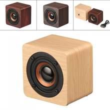 Универсальная беспроводная деревянная мини Колонка q1 3 Вт bluetooth