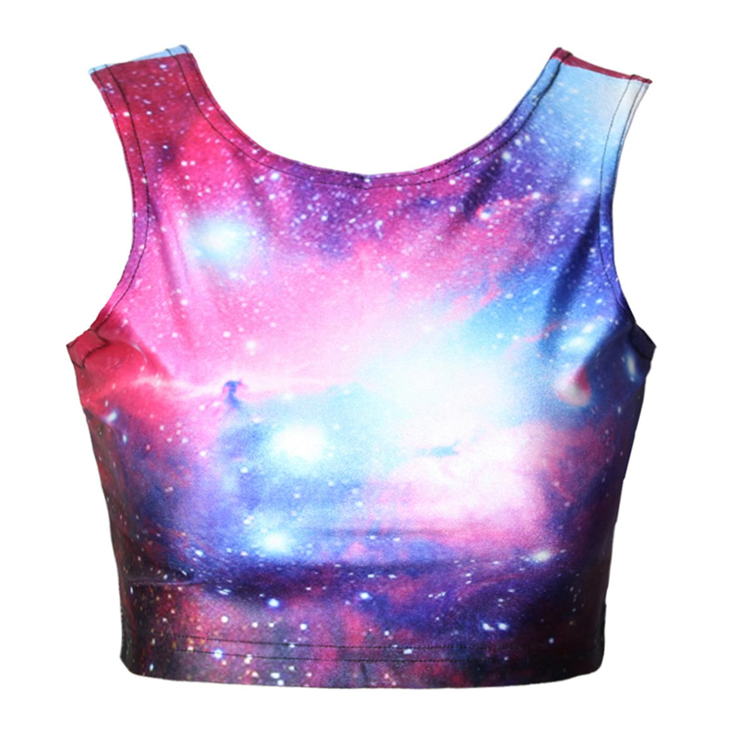 02ca94ccc1 3D Galaxy Printed Crop Top And Mini Skirt Set Party Wear Clothing Women  Summer Sexy Slim Skirt Vest Top Suit