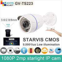 SONY STARVIS Full HD 1080P 2mp Ip Camera Outdoor IR Bullet IMX291 Starlight CCTV Surveillance Camera