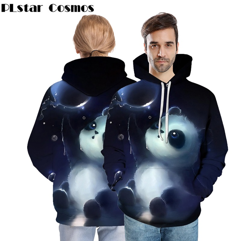 PLstar Cosmos Women/Men 3D Cute Panda Printed Hooded Sweatshirts Unisex Pullovers Hoodies spring Autumn Mens Casual Streetwear