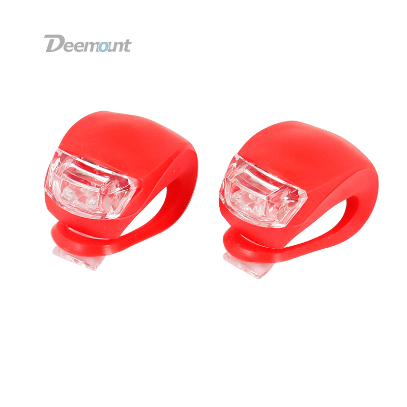 Deemount 4PCS Lot Bicycle Cycling Visual Warning Lamp Silicon Gel Strap Mount Multi Color Options Cycle LED Light Lantern