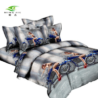 Reactive Printing 3D Bedding Sets 4 Pcs for Queen Size Bedspreads for Kids and Adult with Animals Bed Linen Chinese Wholesaling