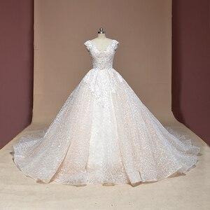 Image 1 - Свадебное платье с рукавом крылышком, блестящее Роскошное винтажное свадебное платье