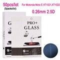 50 unids de pantalla de cristal templado película protectora protector de la película para motorola moto e xt1021 xt1022