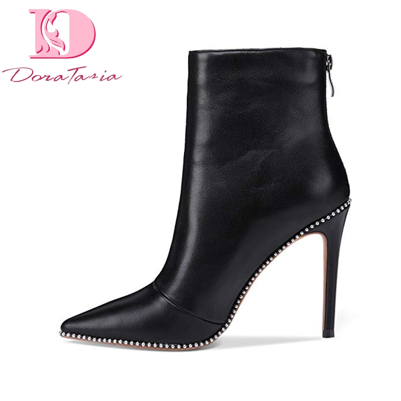 Doratasia New Plus Size 43 Hot Sale Party women s Boots Shoes Zip Up Sexy Thin