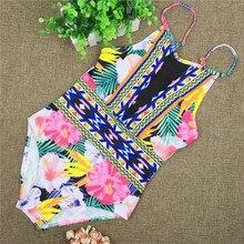 Sexy Mesh One Piece Swimsuit High Cut Swimwear Women 2017 Floral Bathing Suit Patchwork Monokini Trikini Maillot De Bain Femme