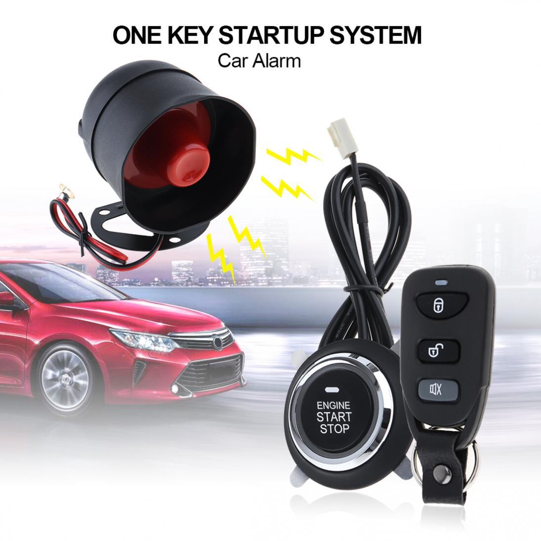 Système d'alarme de voiture universel 12V système de démarrage automatique à distance avec verrouillage Central automatique et entrée sans clé 5A avec clé 4