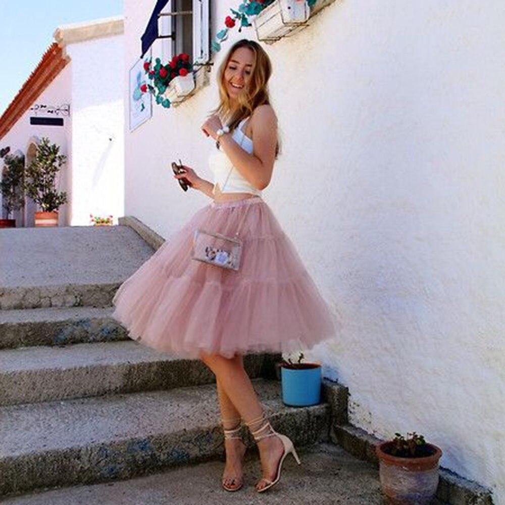 Nouvelle Princesse Adulte Jupes Couches Number Long Tutu Jupe Color Cm Celebrity D'été 5 Midi Arrivée Femmes Tulle Style 65 rv4qHrw