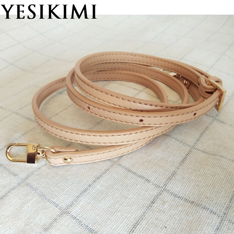 """0.35"""" Luxury Real Leather Crossbody Strap Replacement 41.3""""-48.4"""" Adjustable Bag Accessories"""