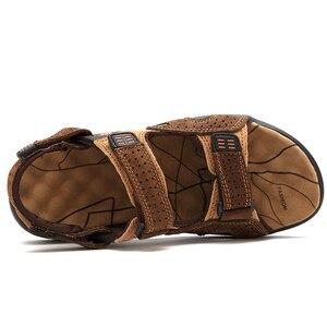 Image 3 - ROXDIAของแท้หนังใหม่แฟชั่นฤดูร้อนBreathableชายรองเท้าแตะชายหาดรองเท้าผู้ชายรองเท้าPLUSขนาด 39 44 RXM002