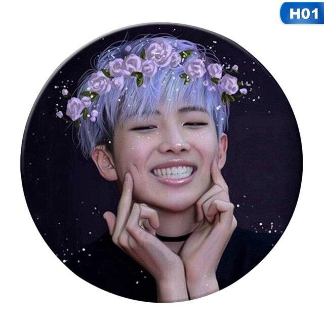 Coreano KPOP Bangtan Ragazzi Album ALI Spilla Spille Accessori Distintivo Per I Vestiti Cappello Zaino Decorazione