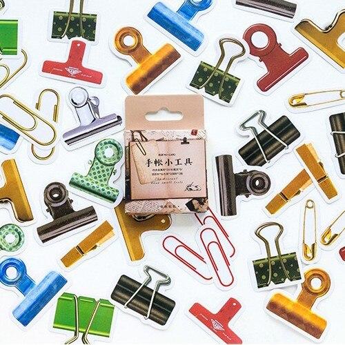 45 Pcs/Pack Vintage Creativity Kawaii Tools Paper Sticker Decoration Diy Album Diary Scrapbooking Label Sticker Stationery