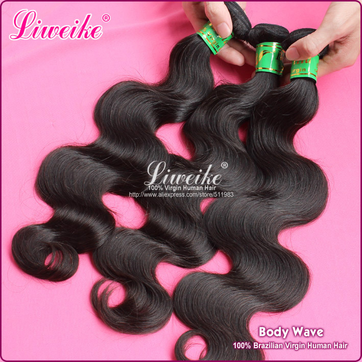 Brazilian Body Wave Unprocessed 6A Grade Virgin Human Hair Weave Ali Hair Products Sell 2pcs Lot Free Shipping