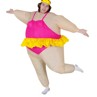 Halloween Costume for Women Men Inflatable Costume Funny Fancy Dresses Adult Chub Suit Inflatable Ballerina Costumes