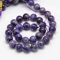 Natural Charoite Beads Strands Grade B Round Indigo 12mm Hole 1mm