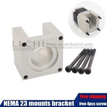 Envío libre 23 Motor paso a paso accesorios soportes soporte de estante Nema23 montaje escalonado