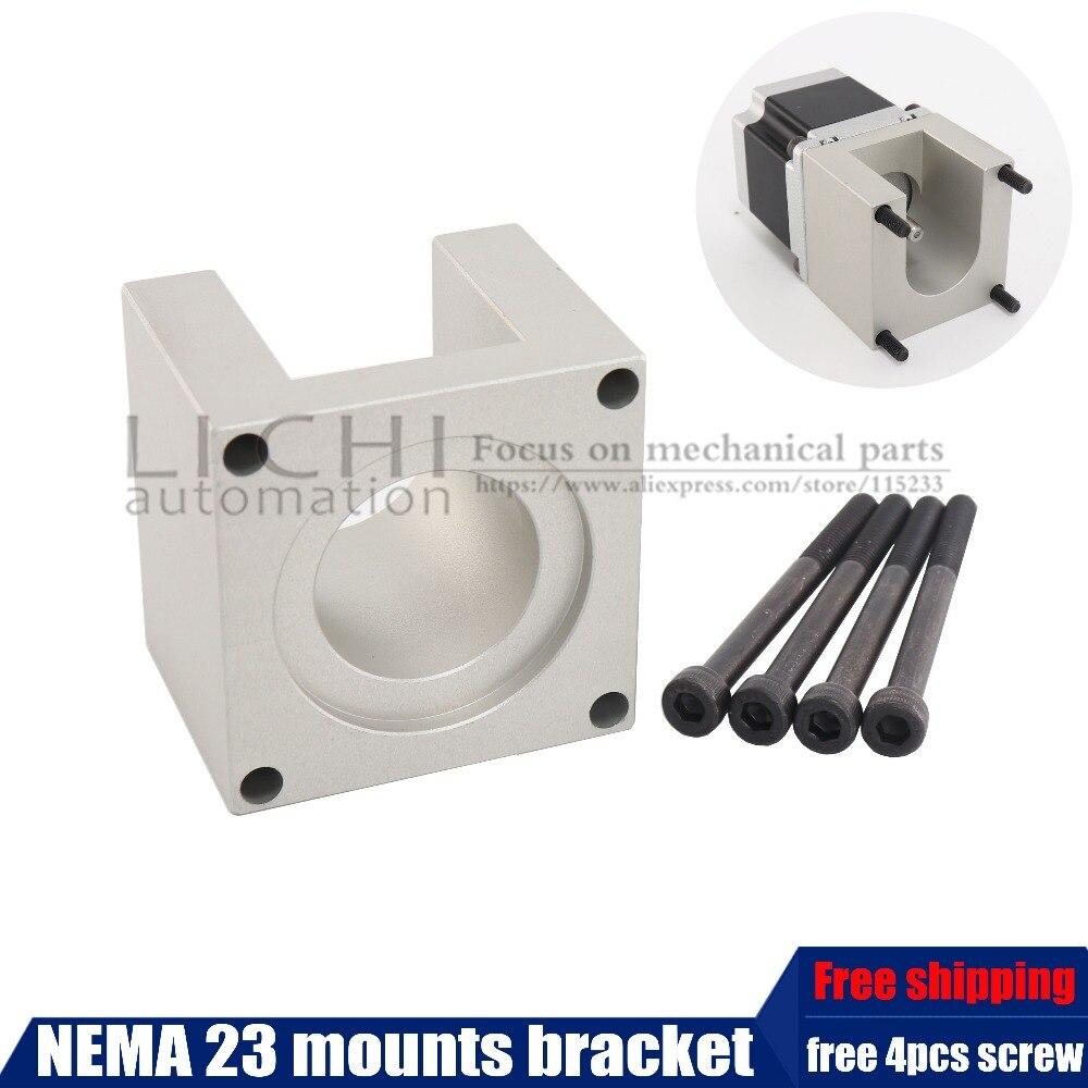 Free Shipping 23 Stepper Motor Accessories Mounts Bracket Support Shelf Nema23 Stepping Mounting