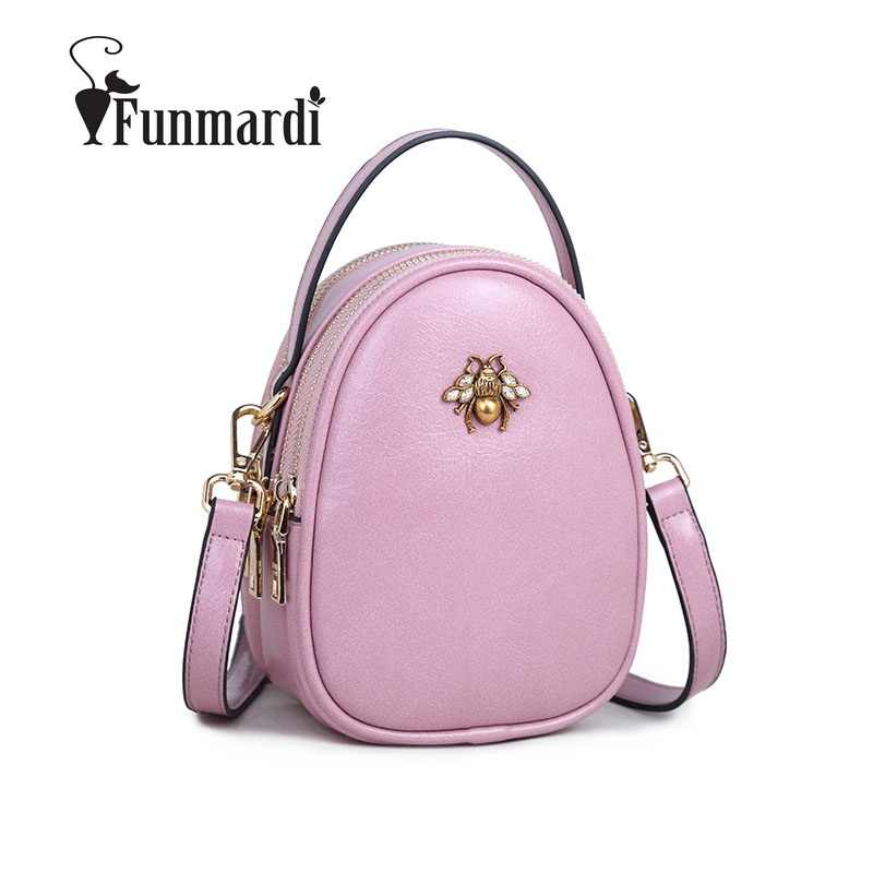 e3c0f6de49 FUNMARDI Bee Casual Solid Shoulder Bags 2018 Small Bags For Womens Classic  Trendy Crossbody Bags 2018