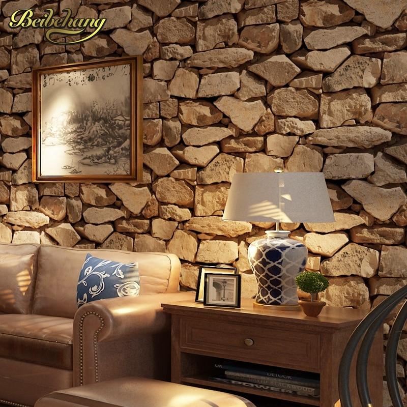 Beibehang papel de parede 3D Antico pietra Carta Da Parati per soggiorno  contesto Della Parete che copre carta da parati per le pareti 3 d pavimenti  ...