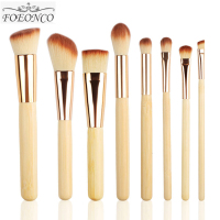 8pcs Beauty Bamboo Professional Makeup Brushes Make Up Kwasten Brush Sst Foundation Eyeliner Eyebrow Lip Brushes